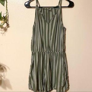 Green Striped Romper
